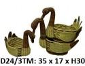 Лебеди ротанговые набор 3 в 1 D24\3TM