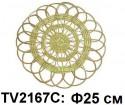 Панно круглое настенное для цветов Ф25см TV2167C