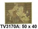 Панно бамбук с рисунком баня 50*40 см  TV3170A-9